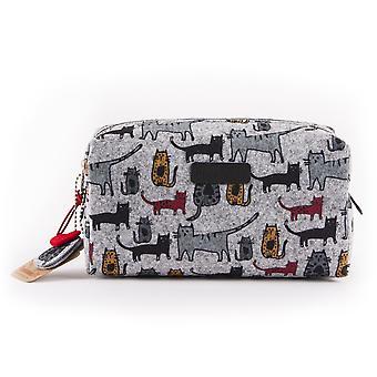Biggdesign Cats Travel Cosmetic Bag, Make up Pouch Case, Tissu en feutre, Mignon, Niche Design, Multifonctionnel, Trousse à crayons organisateur de toilette, 7x4x3 po (20x10x7 cm)
