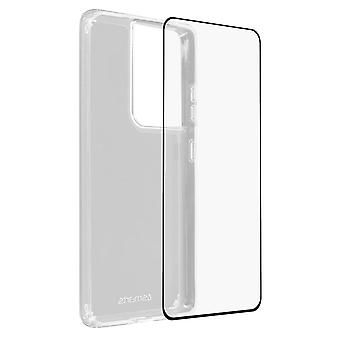 Back Cover for Samsung Galaxy S21 Ultra 4Smarts 9H Tempered Glass - black