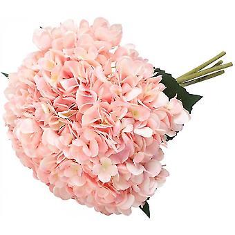 Artificial Hydrangea, 5 Pieces Of Single Filament Stem Hydrangea Bouquet Arrangement (purple)(Pink)