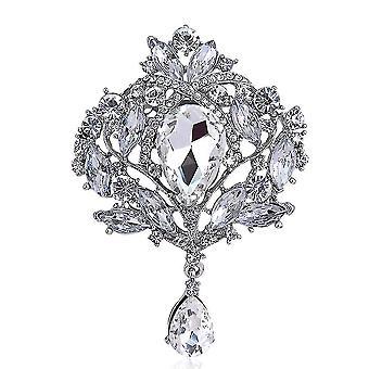 Női bross eltúlzott fűző gyémánt intarjozott üveg bross csap
