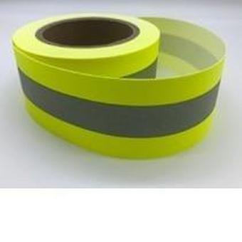 Korkean näkyvyyden fluoresoiva keltainen heijastava liekki palonestoastia kangasteippi