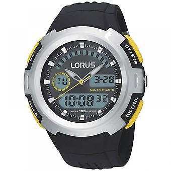 Lorus R2323DX9 Black Silicone Strap Men's Montre