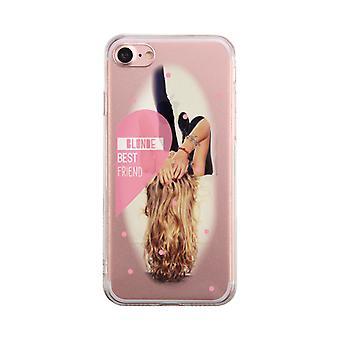 Blonde Best Friend Transparent Phone Case Cute Clear Phonecase