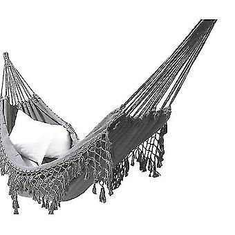 Hammocks البوهيمية macrame أرجوحة مزدوجة المنسوجة شرابات هامش قماش كبير شنقا كرسي السرير سوينغ للشاطئ