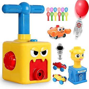 Lelukilpailujen autoradan lisävarusteet ilmapallokäyttöiset autot - lasten tiede lelu