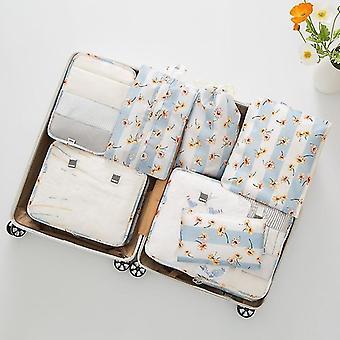 7 Ensemble de bagages emballant des cubes et des pochettes d'organisateur de voyage (Daisy)