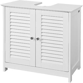 Biały SoBuy pod zlew łazienka szafką z migawki drzwi, FRG237-W