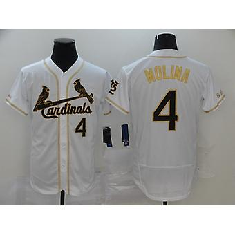 Camisa de beisebol masculino #4 Molina #21 Clemente #50 Betts Player Jersey Game Fans Sports Baseball Uniforms T-shirt White S-3xl