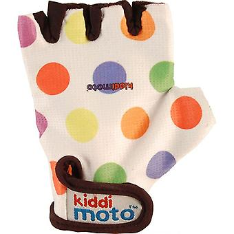 Kiddimoto Cycling Gloves Pastel Dotty