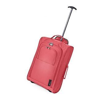 Peach 21 Inch Cabin 2 wheeled Trolley Bag Flight Jet Travel Hand Luggage Lightweight