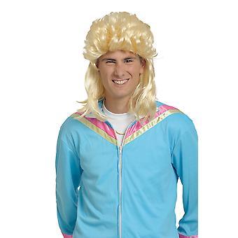 Paryk multe lys blond hår 80