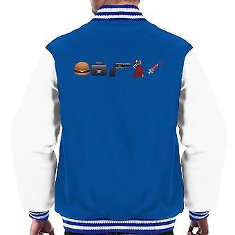 Emoji Pulp Fiction Men's Varsity Jacket