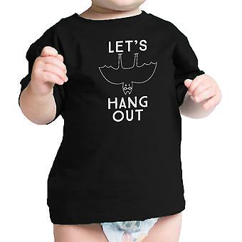 Appendiamo fuori Bat Infante divertente maglietta nera primo Halloween del bambino