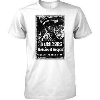 Onze Carlessness - WW2 Propaganda Poster - geallieerde Wereldoorlog - Mens T Shirt