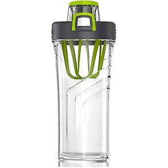 Shaker flaske 710ml fremstillet af BPA gratis én rakte trykknap