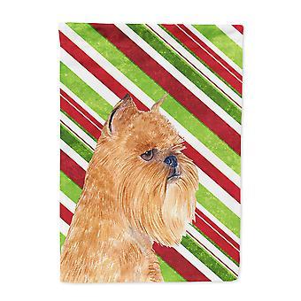 Carolines skatter SS4563-flagg-foreldre Brüssel Griffon Candy Cane Holiday Chri