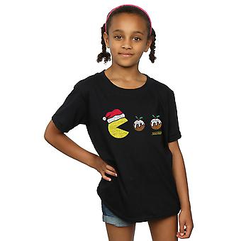 Pacman meisjes Christmas pudding T-Shirt