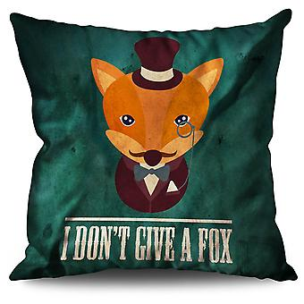 I don't give a fox Linen Cushion 30cm x 30cm | Wellcoda
