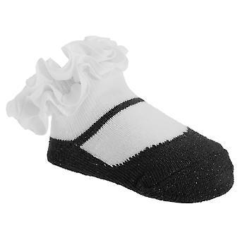 Baby Girls Glitter Frilly sokken (een paar)