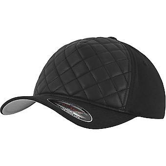Flexfit diamond quilted stretchable Cap - Black