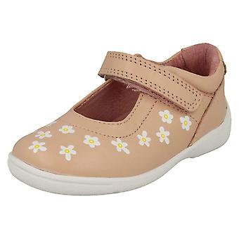 Mädchen Startrite Casual flache Schuhe glänzen - Rosa Leder - UK Size 5G - EU Größe 21,5 - US-Größe 6