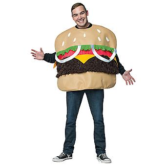 Fur Burger Hamburger Fast Food Takeaway Party Comical Mens Costume OS