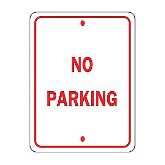 Brady 3AX76 No Parking Sign Red White 18x12 Engineer Grade Aluminum