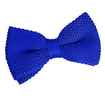 Royal Blue Knit Knitted Pre-Tied Bow Tie