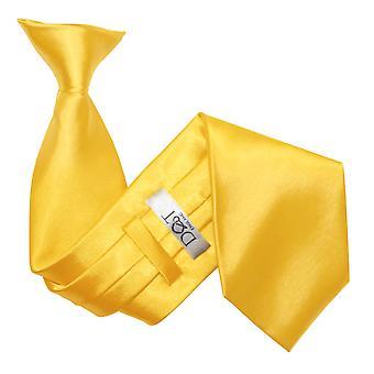 Marigold Plain Satin Clip On Tie