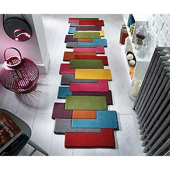 Abstract Collage Multi  Rectangle Rugs Plain/Nearly Plain Rugs