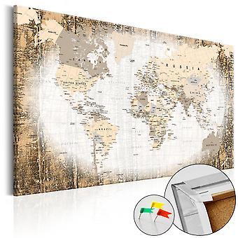 Afbeelding op kurk - Enclave of the World [Cork Map]