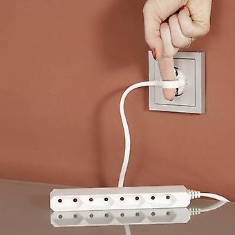 GAO 0254 Socket strip (w/o switch) 4x White Euro plug 1 pc(s)