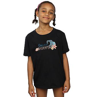 Disney Girls Moana One With The Waves T-Shirt