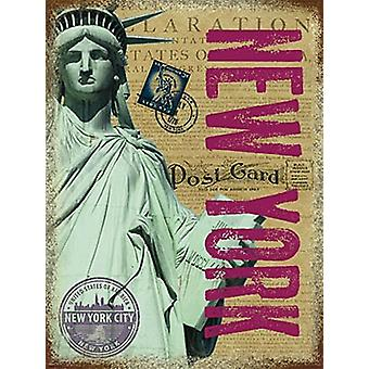 Нью-Йорк Статуя свободы небольшой металлический знак 200 X 150 мм