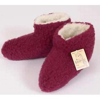 Bed skor ull bordeaux 38/39
