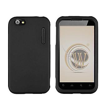 Silicone Gel Case for Alcatel One Touch 995 (Black)