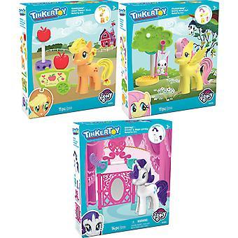 K'NEX Tinkertoy My Little Pony - Fluttershy, Vanity, Applejack Assortment (One Supplied)