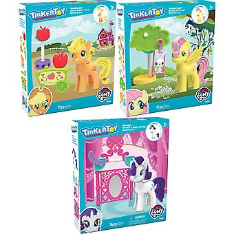 K ' Nex Tinkertoy My Little Pony - Fluttershy, Eitelkeit, Applejack Sortiment (lieferte man)