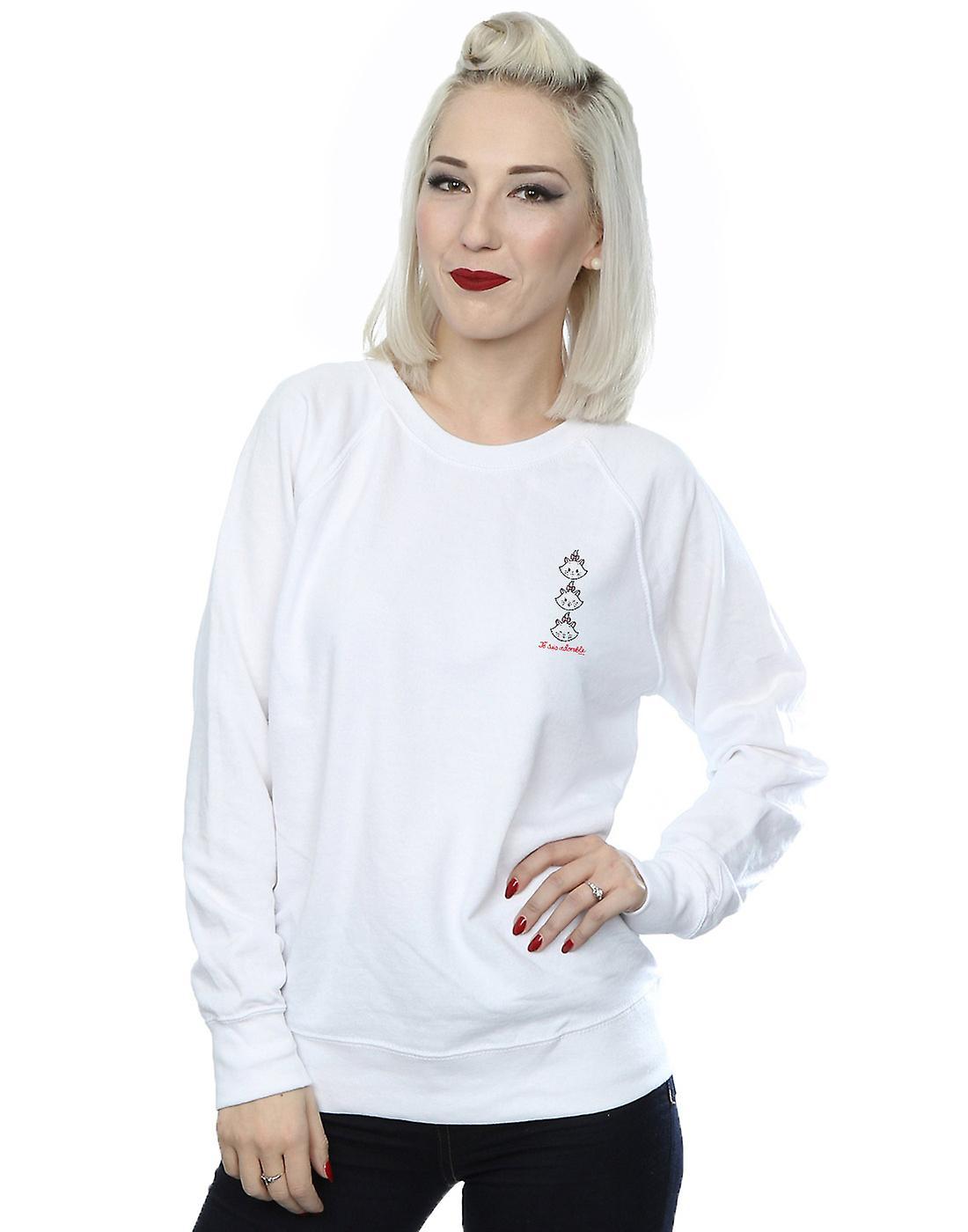 Disney Women's Aristocats Marie Breast Print Sweatshirt