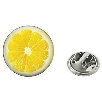 Bassin and Brown Lemon Lapel Pin - Yellow
