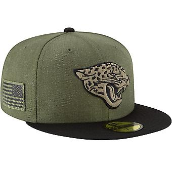 New era 59Fifty Cap - salute to service Jacksonville Jaguars