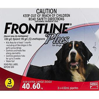 Frontline Plus for Dogs 40-60kg (88-132lbs) - 3 Pipettes
