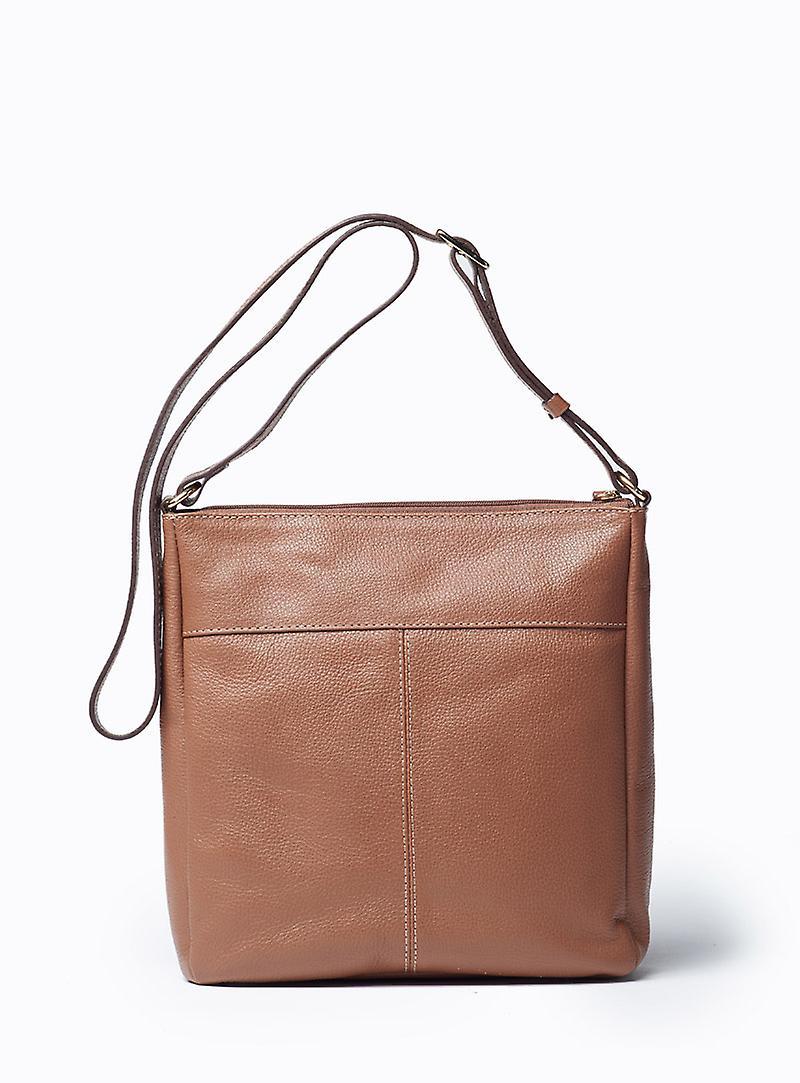 Viver Isa Brown Leather Crossbody Bag