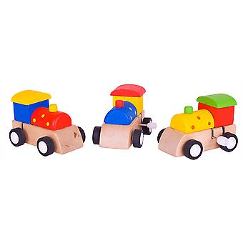 Bigjigs Toys Train de rouage d'horloge