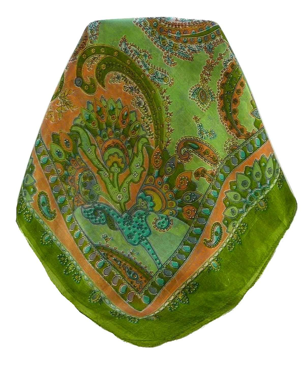 Mulberry Silk Traditional Long Scarf Shipra Charcoal by Pashmina & Silk