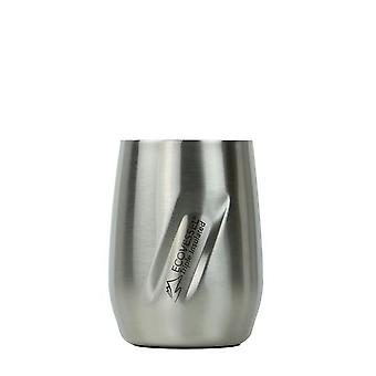 EcoVessel EcoVessel PORT Wine Tumbler with Lid - Silver Express Brushed 10 oz