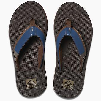 Reef Mens Sandals With Bottle Opener ~ Fanning Low navy/brown