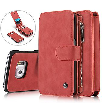 CASEME Samsung Galaxy S6 Edge Retro Leather wallet Case