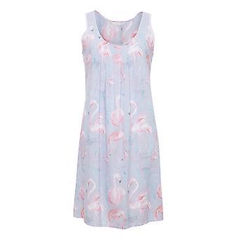 Cyberjammies 4114 Frauen Zara grau Flamingo Print Nacht Kleid Loungewear Nachthemd