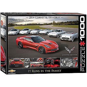 Chevrolet Corvette det körs i The Family 1000 bit pussel 680 x 490 mm (pz)